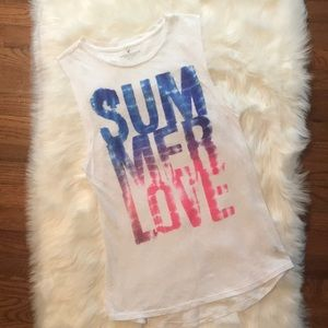 """American Eagle Outfitters """"Summer Love"""" Muscle Top"""